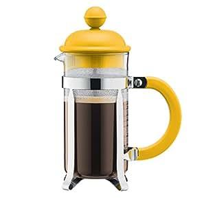 Bodum-color, cafetière chambord cafetière à piston 3 tasses 0,35 l (jaune)