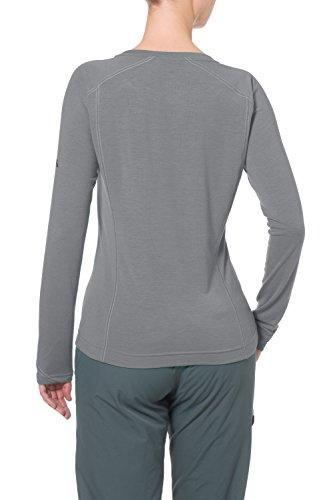 VAUDE Damen T-Shirt Signpost Long Sleeve grey-Melange