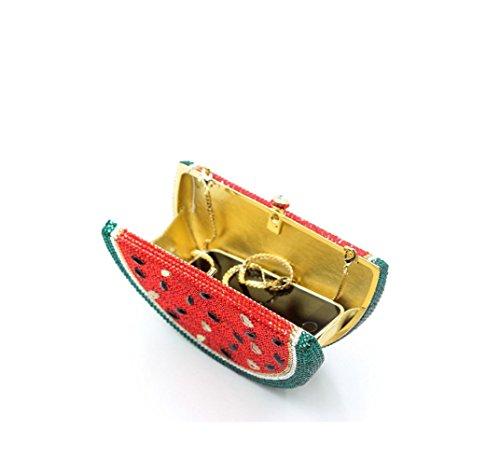 Watermelon voller Diamanten Dinner-Paket Europa und den Vereinigten Staaten Diamant Luxus-High-End-Voll Diamantbohrlöcher Tasche Abendkleid Beutelfarbe color 1