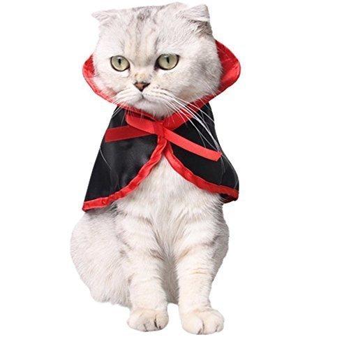 e Kostüm, Halloween Haustier Kostüme Vampire Mantel Halloween Kostüme für Hunde Weihnachten Nette Cosplay Kleidung für Kleine Hunde und Katzen (Schwarz) (Licht-show 2017 Halloween)