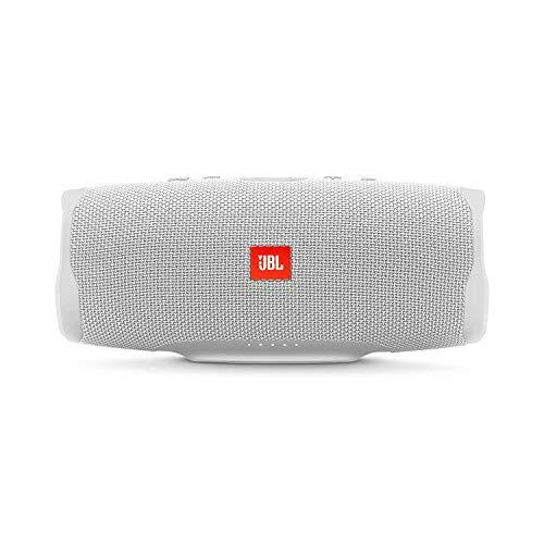 JBL Charge 4 - Enceinte Bluetooth portable avec USB - Robuste et étanche : pour piscine et plage - Son puissant - Autonomie 20 hrs - Blanc
