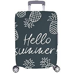 (Seulement Couvrir) Bonjour Été Dessinés À La Main des Ananas Trolley Cas Voyage Bagages Protecteur Valise en pour Pare-Poussière 28,5 X 20,5 Pouces