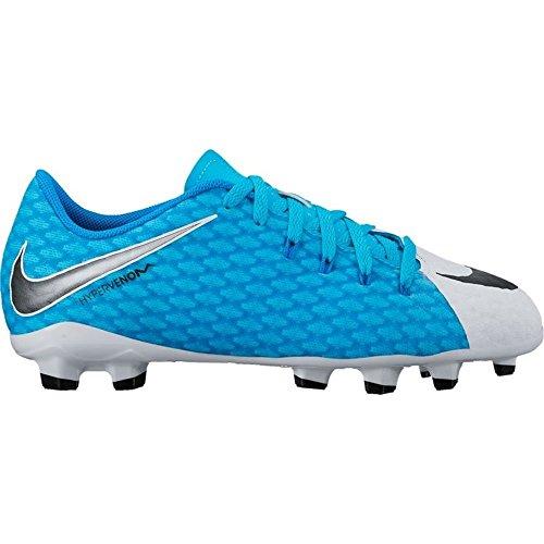 Nike Unisex-Erwachsene Hypervenom Phelon III FG JR 852595 104 Sneaker, Mehrfarbig (Indigo 001), 36 EU