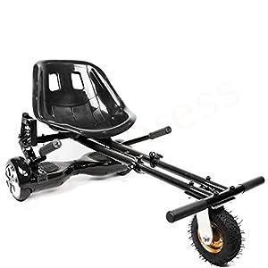 Enyaa New Style 2018Model Hoverkart regolabile con sospensione per 6.5825,4cm hoverboard accessori Smart Electric scooter Go Kart kart per adulti e bambini modello più sicuro con sospensione, Nero