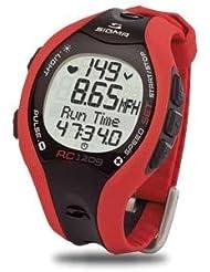 Reloj Sigma RC1209 con pulsómetro, color rojo.