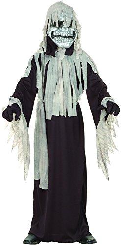 Generique - Halloween-Monster-Kostüm für Jungen schwarz-grau 110/116 (4-6 Jahre)