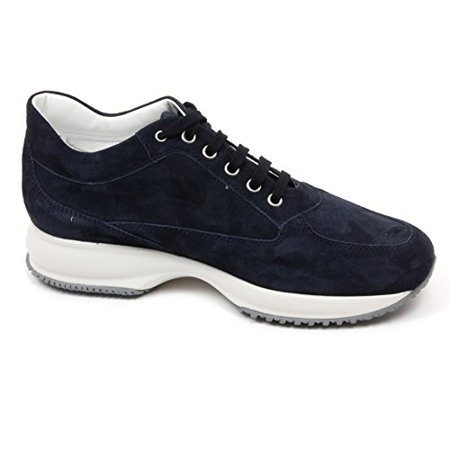 C8058 Sneaker Donna Hogan Interactive Scarpa H Mélange Blu Borchie Chaussure Femme Blu Scuro