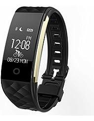 Smart Armband,S2 bluetooth Fitness Tracker Fitnessarmband Pedometer mit Tageszielen, Herzfrequenz Heart Rate Monitor , Wecker, Anrufhinweis, Schlafanalyse, Spritzwassergeschützt