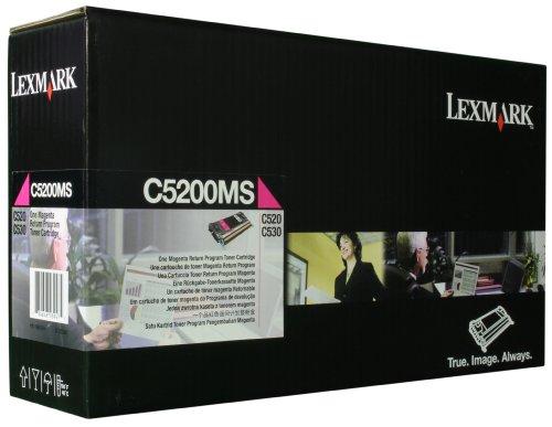 Preisvergleich Produktbild Lexmark C5200MS C530 Tonerkartusche 1.500 Seiten Rückgabe, magenta
