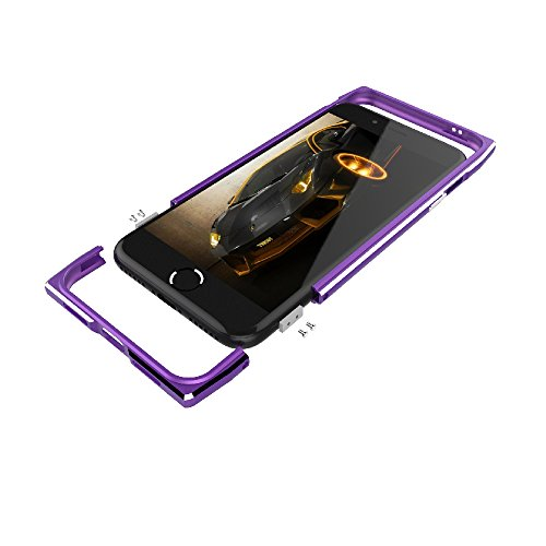 iPhone 7 Hülle, Moonmini® Luxury Aluminium Metall Frame Bumper Stoßfest Schutz Schutzhülle für iPhone 7 Silber Himmelblau