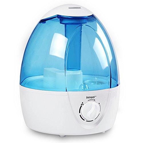 Luftbefeuchter, Innoo Tech 3.5L Ultraschall Humidifiers, Raumbefeuchter aus Antibakteriellen Material, Kalt Dampf mit lange Arbeitszeit, Perfekt für Schlafzimmer, Büro und Baby-Kinderzimmer (bis 35㎡)