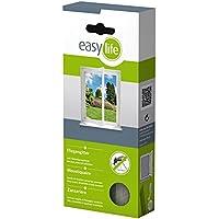 Zanzariera per finestre 1,30 x 1,50 m - easy life® - bianco trasparente - protezione sicura contro gli insetti - Tenda Acrilica