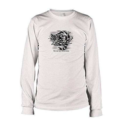TEXLAB - Mad Here - Herren Langarm T-Shirt, Größe L, weiß