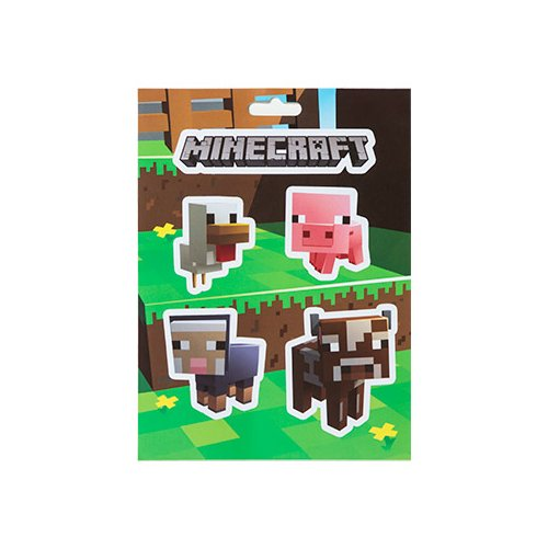 JINX, Aufkleber-Set, Minecraft-Baby-Tiere