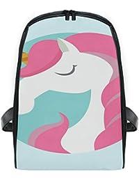 FANTAZIO - Mochila de Viaje con diseño de Unicornio