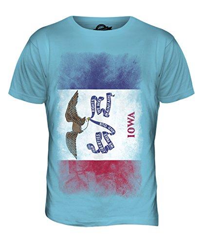 CandyMix Bundesstaat Iowa Verblichen Flagge Herren T Shirt Himmelblau
