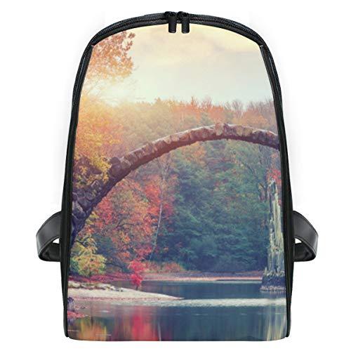 ELIENONO Fantastische Autumn Landscape Amazing Sunset Azalea,Laptop Rucksack für Männer Schulrucksack Multifunktionsrucksack Mini Tagesrucksack für Schule Wandern Reisen Camping 13 Azalea
