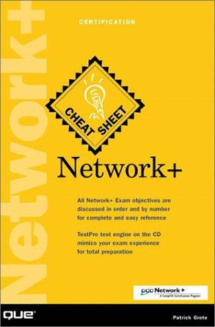 Network+ Cheat Sheet por Patrick Grote