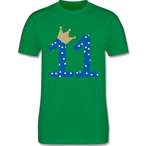 Geburtstag - 11. Geburtstag Krone Junge Elfter - Herren Premium T-Shirt Grün