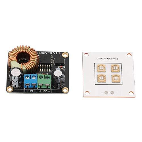Keenso Piezas de la impresora 3D, Panel de la lámpara de la fuente de luz de 40W UV LED y tablero de controlador LED de 30W para DLP