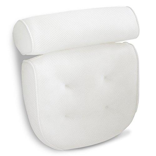 Luxus Badewannenkissen stützt Kopf, Nacken, Schultern und Rücken. Das Wannenkissen ist rutschfest, sehr weich und groß für optimalen Komfort und Entspannung. Das Nackenkissen passt auf jede Badewanne.
