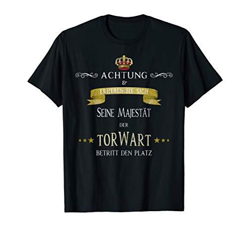 Lustiges Keeper T-Shirt Torwart Seine Majestät TShirt Gift -