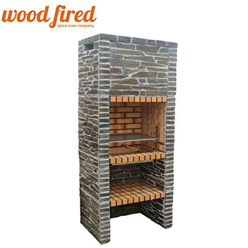 Woodfired Outdoor Brick/Stone Masonry Mediterranean Bbq With, Shelf (Model 2)