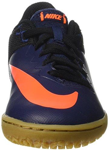 Nike Jr Hypervenomx Pro Ic, Futsal Mixte Enfant Bleu(Mid Nvy/Ttl Orng/Blk/Gm Lght B)