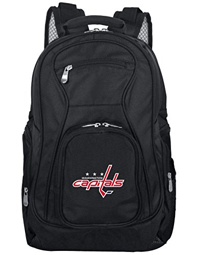 Denco NHL Washington Capitals Voyager Laptop Backpack, 19-inches, Black