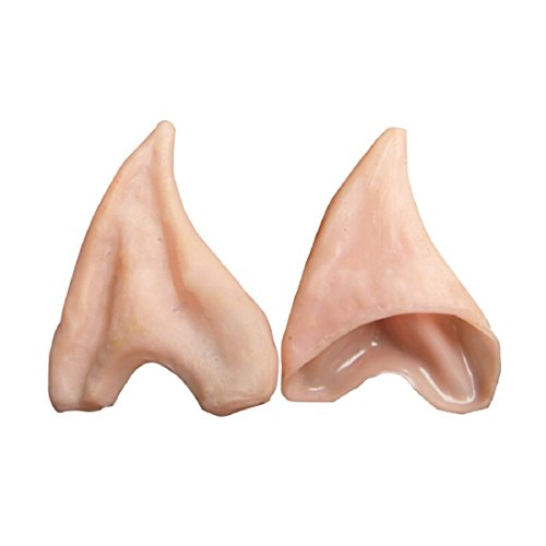 Preisvergleich Produktbild 3 Grosgrain - Pointed Prosthetic Tips Elf Ear Latex Fairy Pixie Ears Cosplay Halloween Party Soft - Latex Ears Cosplay Party Masks Real Topaz Shortwave Transceiver Costume Latex Prosthet