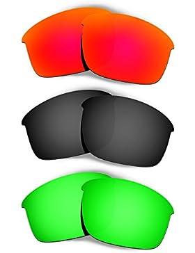 Hkuco Plus Mens Replacement Lenses For Oakley Bottle Rocket - 3 pair Combo Pack