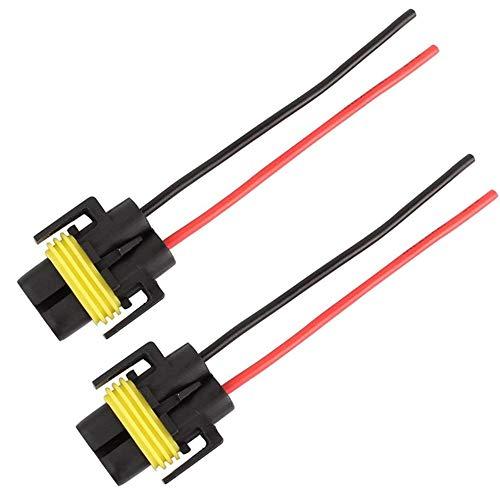 Umwandlung Linie (Yellow & Black H11 Lampen-Halter weibliche Adapter H11 Auto-Scheinwerfer-Arbeits-Lampen-Umwandlungs-Stecker Conversion-Linie)