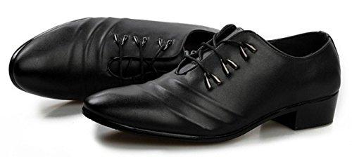 HYLM Scarpe da donna in pelle di Uomo Scarpe da sposa bianche Scarpe di cuoio britannico scarpe casual Scarpe da partito black