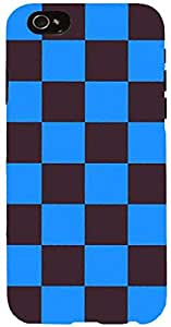 Snoogg chequered pattern design 2265 Case Cover For Apple Iphone 6 iphone 6