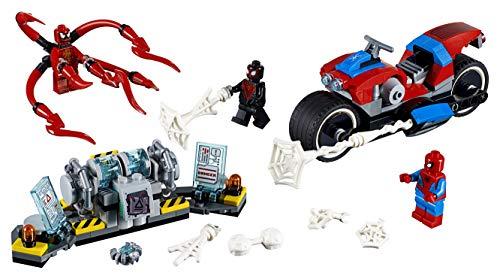 Lego 76113 Super Heroes Spider-man Bike Rescue Building Set, Marvel Toy Vehicles For Kids