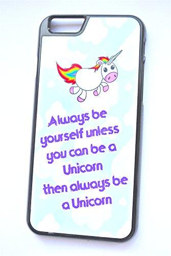 Puis Always Be a Unicorn Quirky Funny (iPhone 6/6S 11,9cm Noir en plastique dur Coque/Housse/)