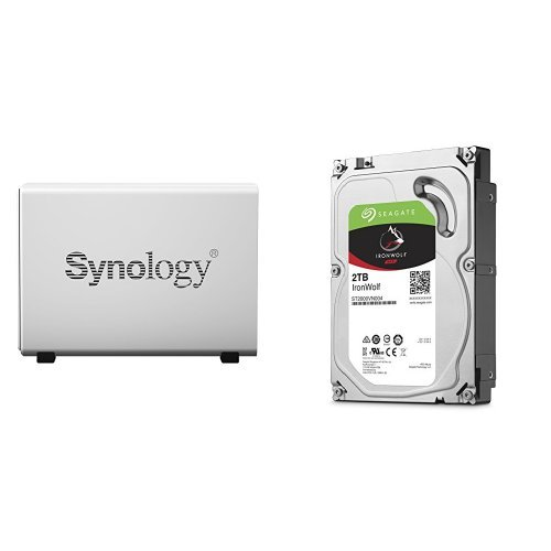 Price comparison product image Synology DS115J 2TB (1x 2TB Seagate IronWolf) 1-bay Desktop Network Attached Storage