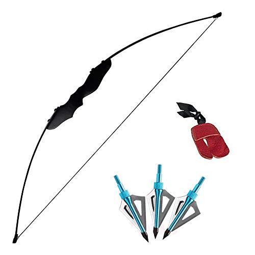 3Z Archery 35lbs Bogenschießen Gerade Bogen Jagd Takedown Erwachsene Jugend Kinder Ziel Langbogen Outdoor Sports Base Recurve Set Jagdspitzen -