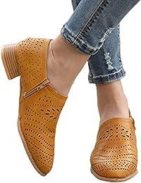 Botines Mujer Tacon Medio Mocasines Mujer Ante Casual Loafers Primavera Verano Botas de Tobillo Zapatos 3cm