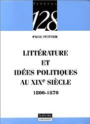 Littérature et idées politiques au XIXe siècle, 1800-1870