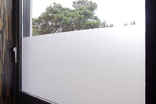 """Tamia-Home Statische Fensterfolie 90% UV-Sonnenschutz Selbsthaftende Sichtschutzfolie Glasdekor """"Milchglas"""" S001 90*150cm"""