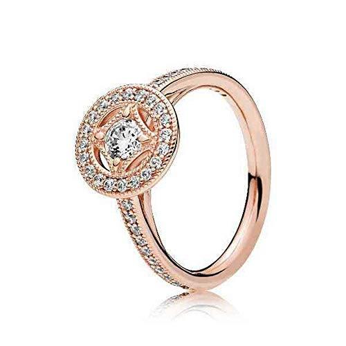 Pandora Damen-Stapelring Vergoldet zirkonia Ringgröße 52 (16.6) 181006CZ-52