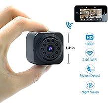 Mini Cámara Oculta UYIKOO Wifi Cámara Espía 1080P HD P2P Cámara de Seguridad Inalámbrica Soporte de Visión Nocturna/Detección de Movimiento para IOS/Android Vista Remota