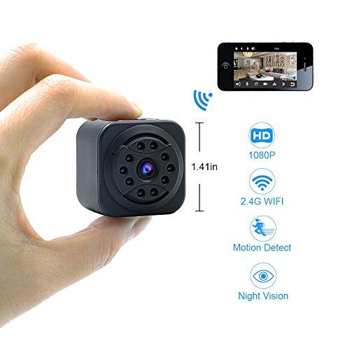 Mini Kamera UYIKOO Wifi Kamera 1080P HD IP Kamera Wireless Wlan P2P Kamera Home Security Kamera Unterstützung Nachtsicht/Bewegungserkennung für IOS/Android (Ip-kamera)