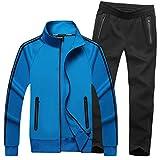 Mirecoo Herren Jogginganzug Trainingsanzug Fitness- Gr. XXL, Schwarzblau 18