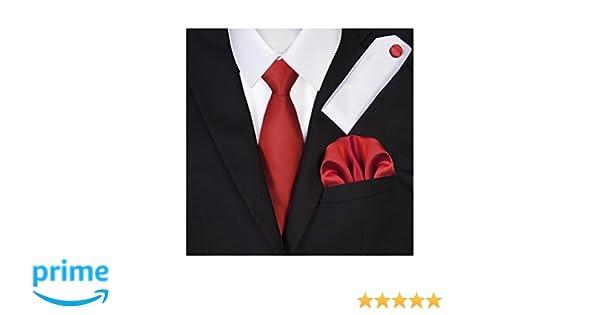 9348047a7334 TNS Bright Red Wedding Ties Set - Cufflinks Hanky: Amazon.co.uk: Clothing