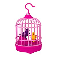 Egosy Bird Cages Toys Creative Inductive Sound Voice Control Activate Chirping Bird Singing Cage Kids Funny Bird Cage Aviary Toy