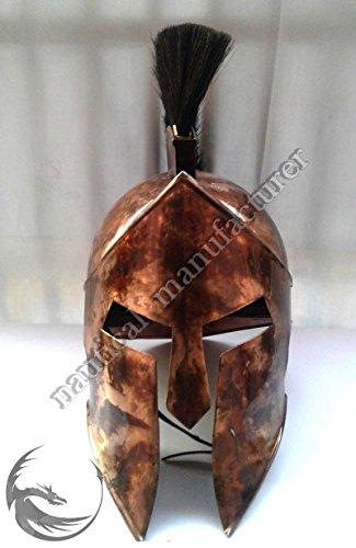 ANTIQUENAUTICAS Mittelalterliche König Leonidas Griechisch 300 Spartan Rüstung Helm Halloween Rolle Kostüm