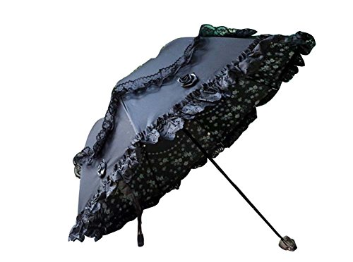 Princesse Umbrella Arc Ensoleillé Umbrella Vinyl Lace Parasol UV Sunscreen