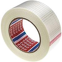 Nastro per imballaggi mono adesivo Trasparente Fibra di vetro Film PET Tesa 4591 75 mm x 50 m